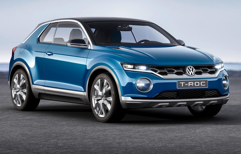 Photo wallpaper Concept, Volkswagen, T-ROC, Darkblue