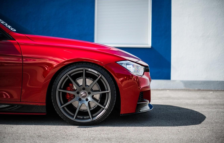 Photo wallpaper BMW, BMW, Red, F30, Side, Kasna
