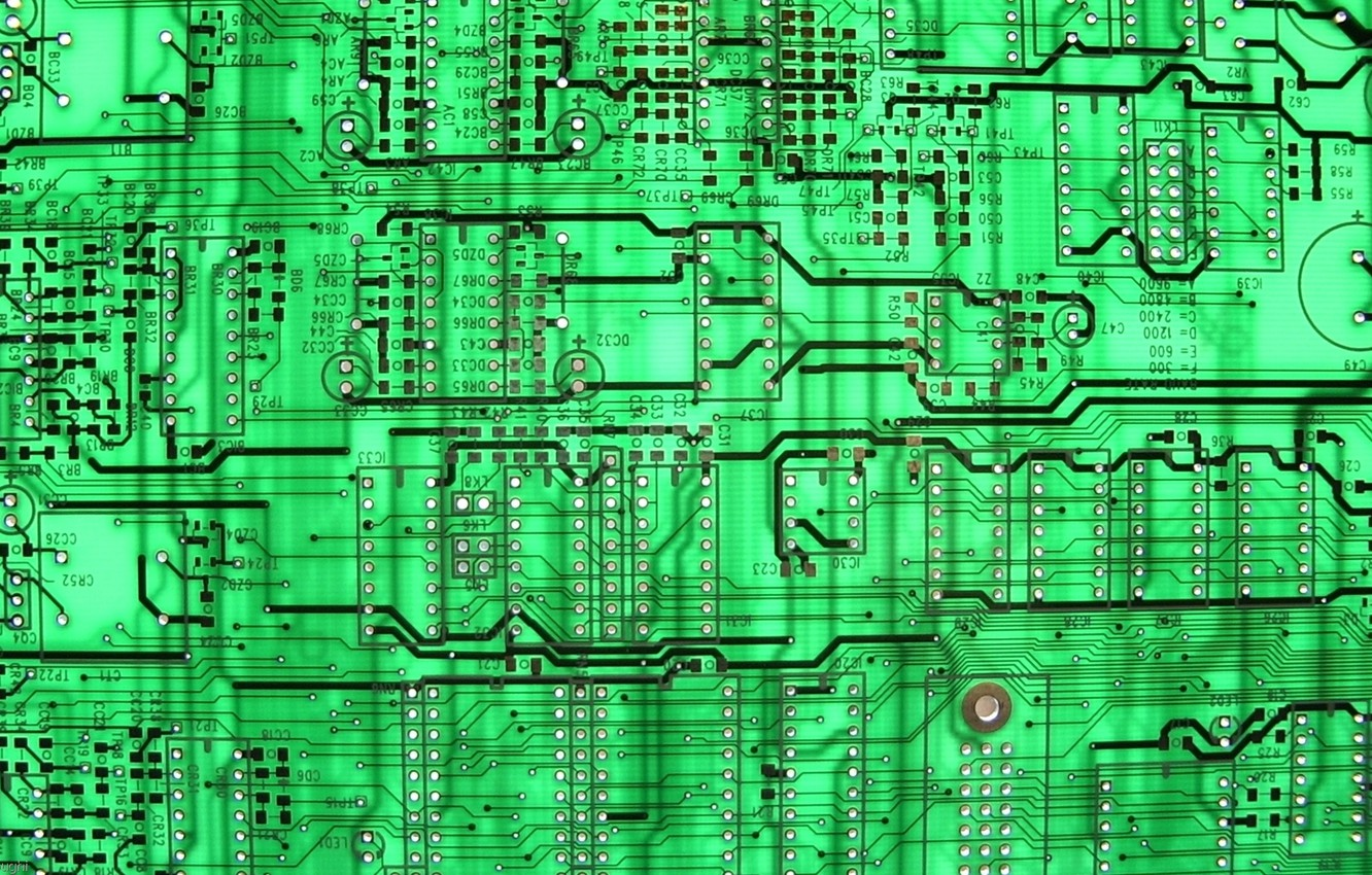 Wallpaper Green Background Circuit Board Images For