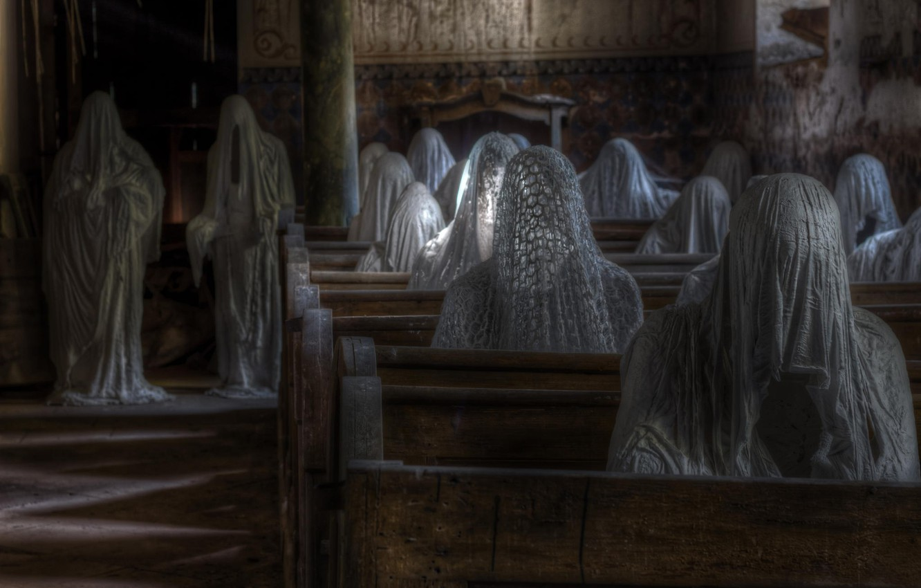 Photo wallpaper ghosts, figure, horror, Ghosts
