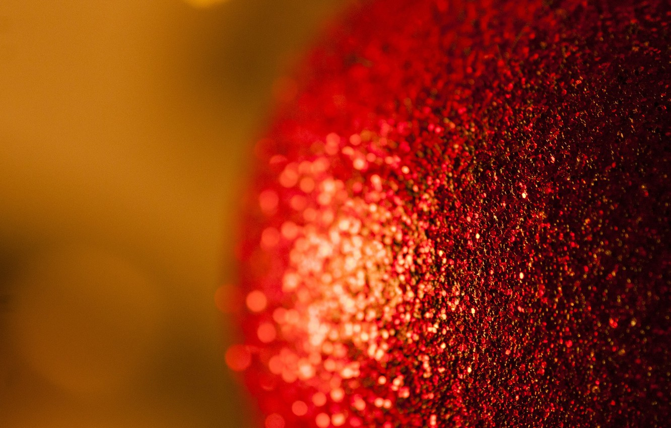 Photo wallpaper macro, new year, ball, Christmas toy, hq Wallpapers