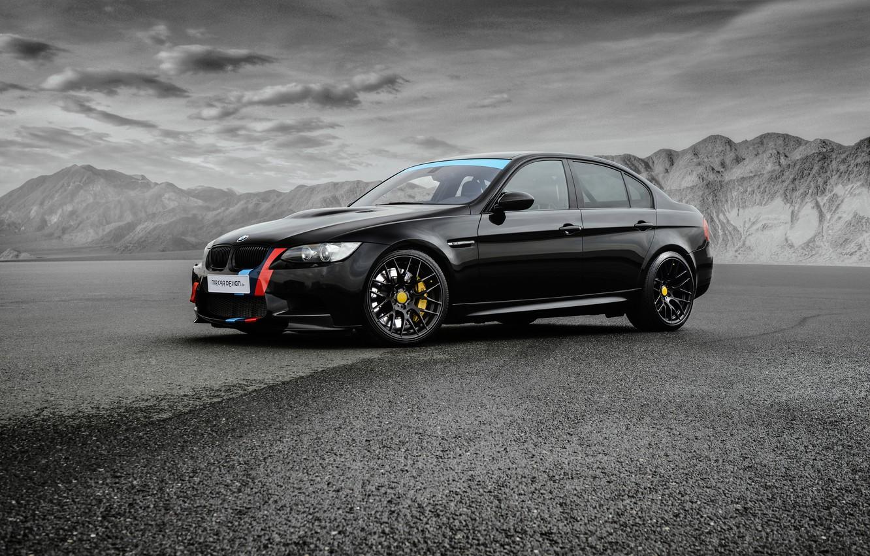 Photo wallpaper BMW, BMW, black, Black, Sedan, E90, MR Car Design