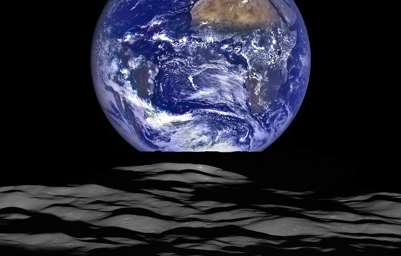Wallpaper Space Photo Earth The Moon Nasa Images For