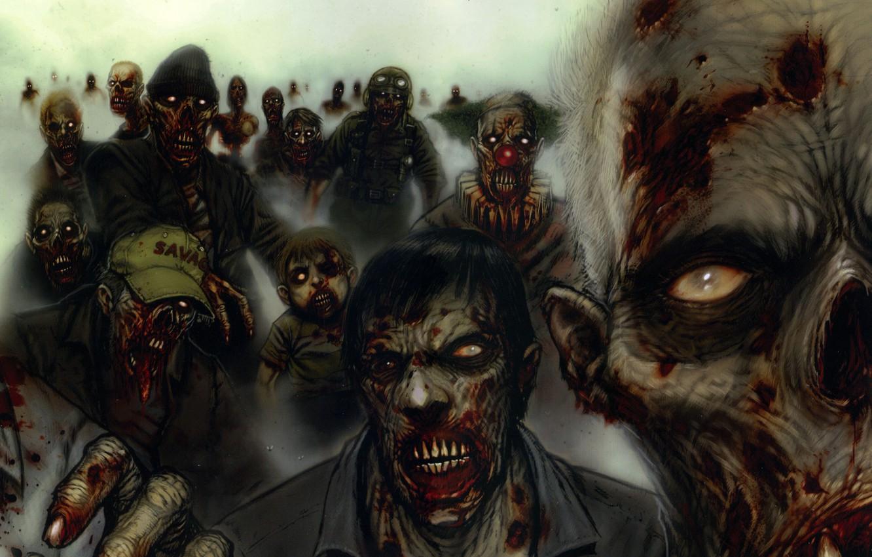 Photo wallpaper Figure, monsters, zombies