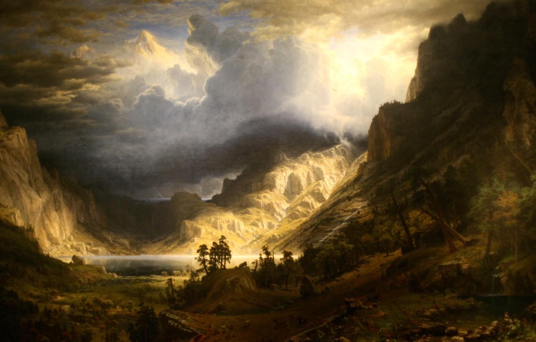 Wallpaper Landscape Picture Albert Bierstadt Storm In The