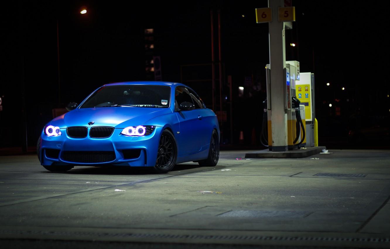Photo wallpaper blue, bmw, BMW, dressing, convertible, blue, 335i, e93