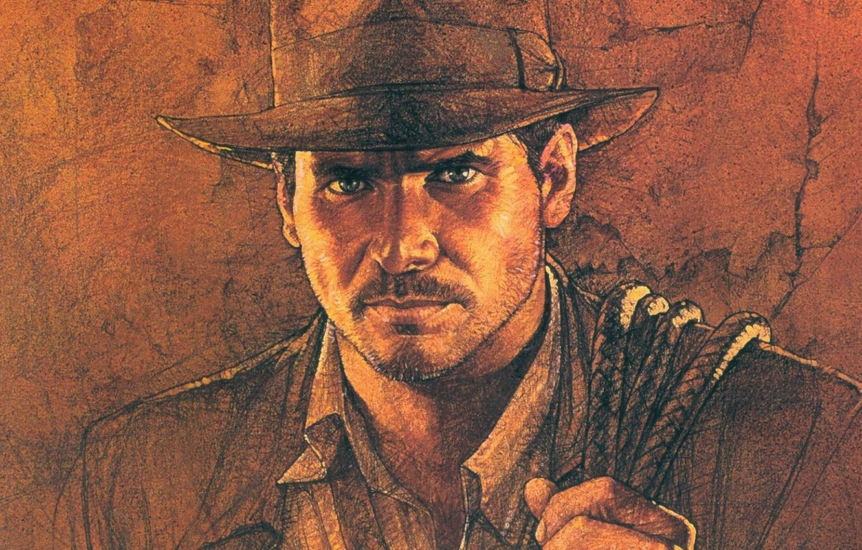Photo wallpaper the film, figure, art, Indiana Jones, adventure, action, genre, Director, Harrison Ford, Harrison Ford, Steven …