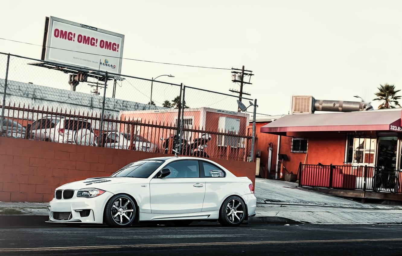 Photo wallpaper white, BMW, BMW, white, 1 series