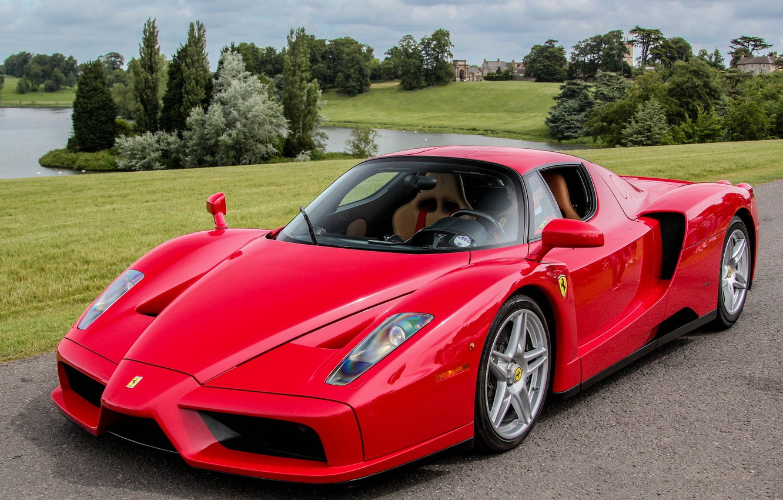 Photo wallpaper Ferrari, red, supercar, Enzo
