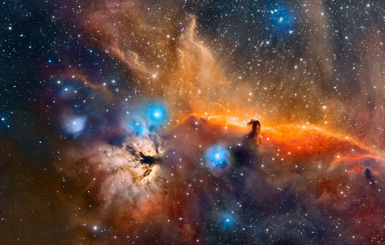 Wallpaper Space Stars The Horse Head Nebula In The
