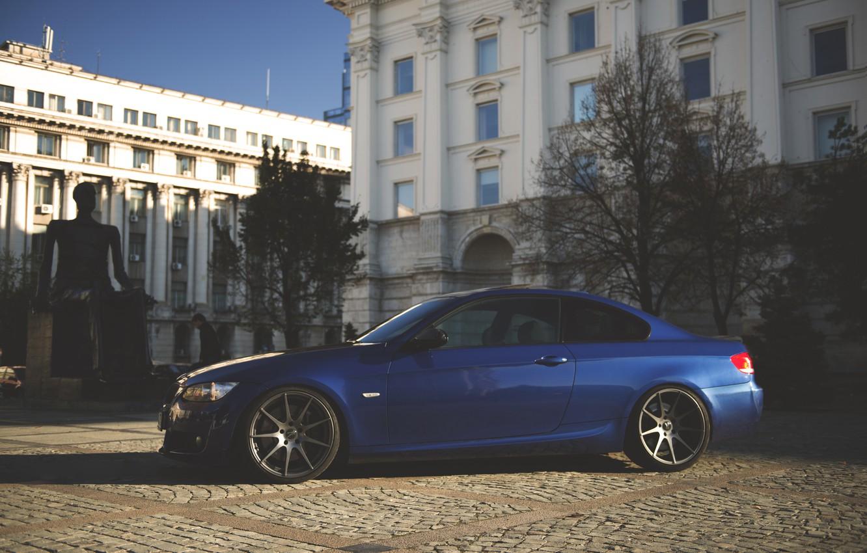 Photo wallpaper BMW, Tuning, Blue, BMW, Drives, E92, Deep Concave