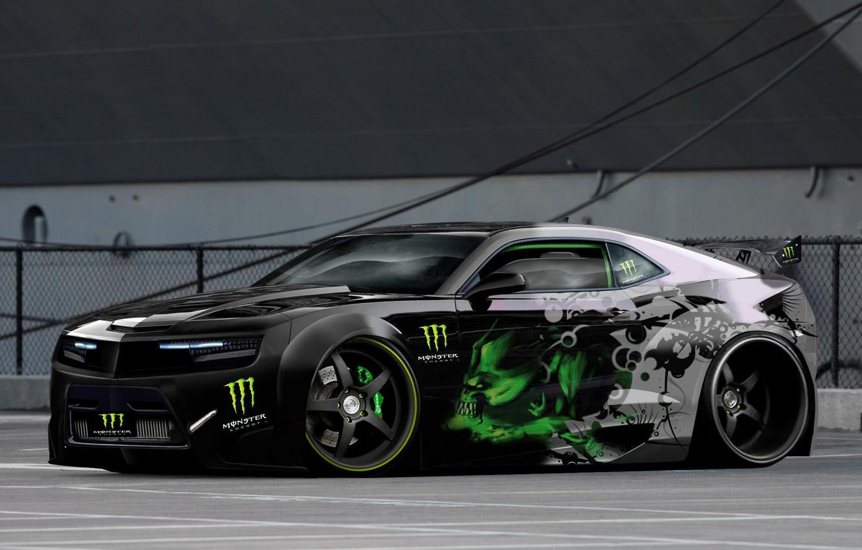Photo wallpaper camaro, monster, energy