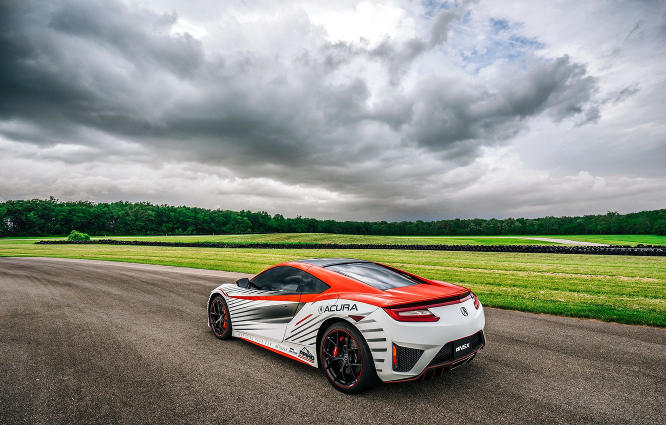Photo wallpaper field, track, Car, track, Acura, NSX, Pace, Peak, Pikes