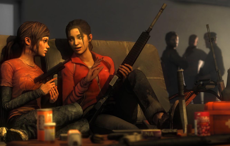 Wallpaper Girl Gun Weapons Girl Left 4 Dead Crossover