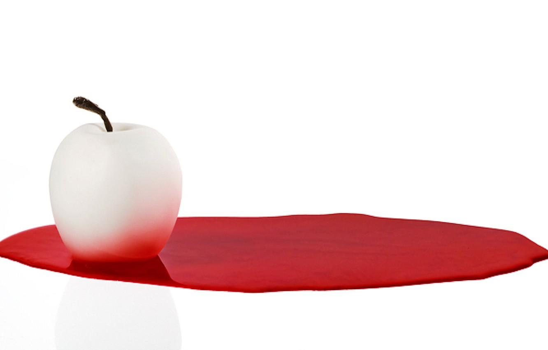 Photo wallpaper background, white, apple, Apple, humor, Different