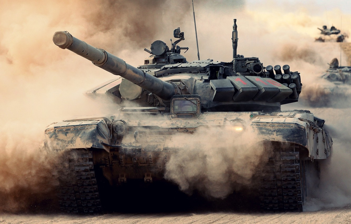 Photo wallpaper army, tank, Russia, T-72, T-72B2