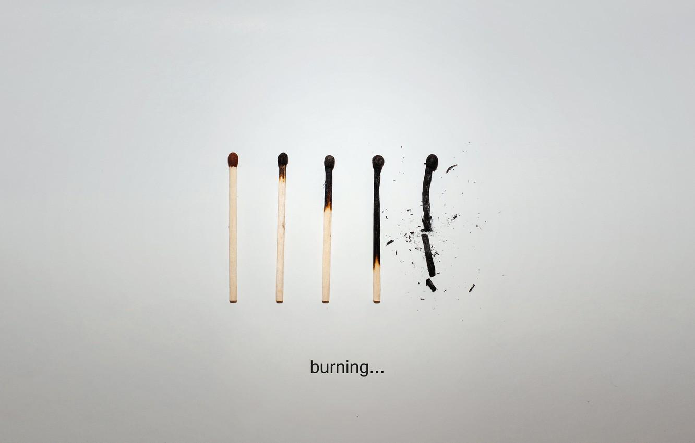 Photo wallpaper life, paper, Matches, burn, the end, download, lie, smolder, burn