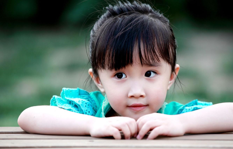 Photo wallpaper photo, girl, Asian