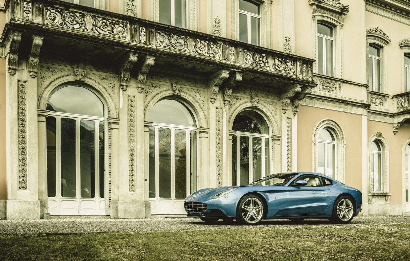 Photo wallpaper photo, Blue, Ferrari, Car, berlinetta, F12, Touring, 2015, Metallic, Carrozzeria, based on Ferrari, Berlinetta Lusso