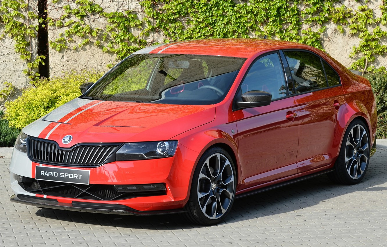 Photo wallpaper Concept, the concept car, the front, Skoda, Skoda, rapid sport, Rapid Sport