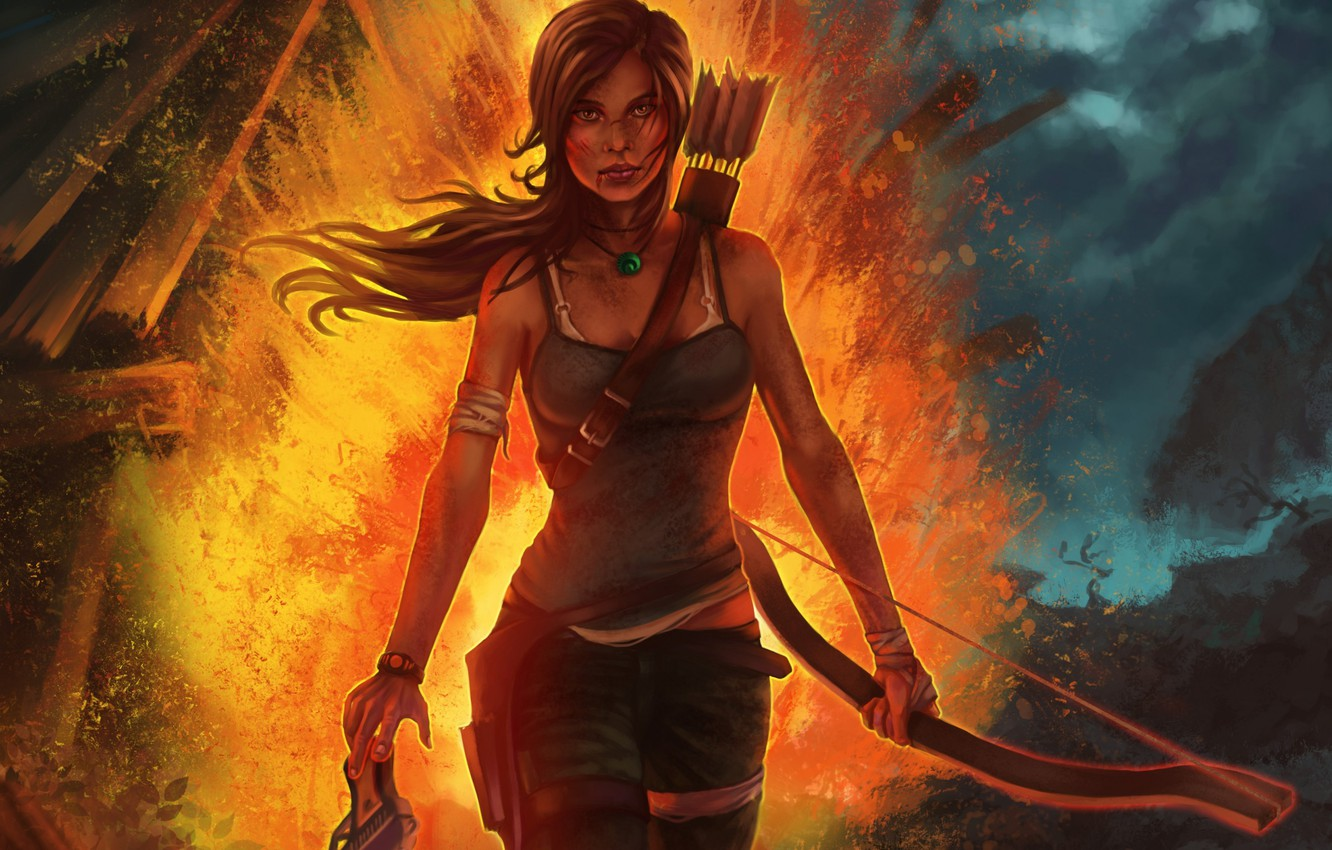 Wallpaper Girl Game Bow Tomb Raider Lara Croft Game 2013