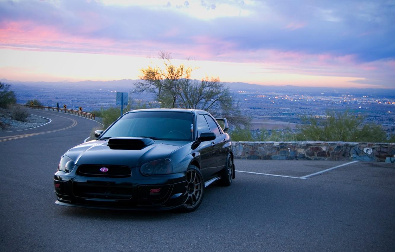 Photo wallpaper tuning, morning, Subaru