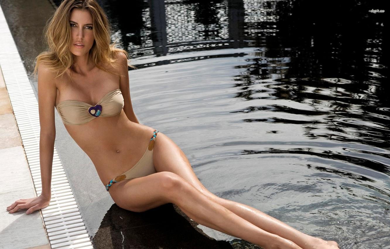 Photo wallpaper Hot, Lingerie, Sexy, fashion, model, Bianca Klamt