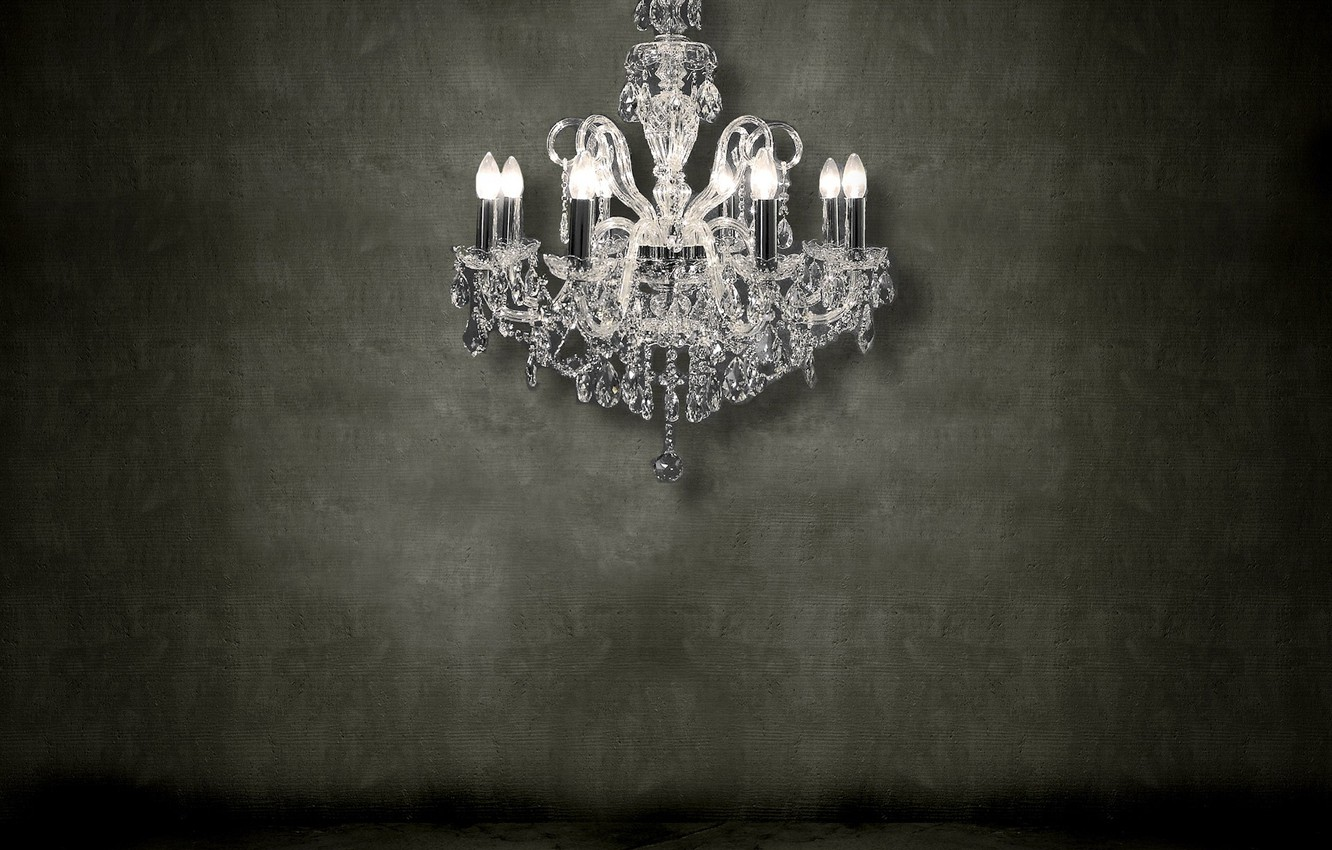 Photo wallpaper wall, chandelier, 155, crystal