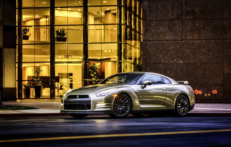 Photo wallpaper Nissan, GT-R, Nissan, R35, US-spec, 2015, 45th Anniversary Gold Edition