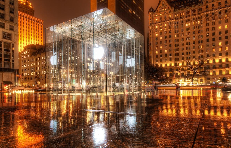 Photo wallpaper New York, new York, Apple Store