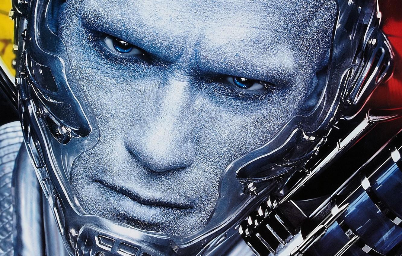 Photo wallpaper eyes, look, face, Arnold Schwarzenegger, Mr. Freeze, Batman and Robin