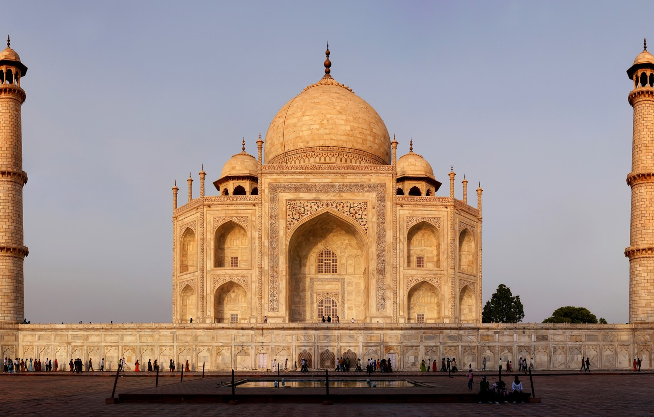 Wallpaper india taj mahal monument marble architecture - Taj mahal screensaver free download ...
