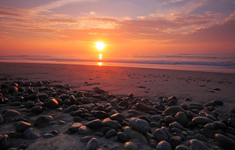 Photo wallpaper sea, the sky, water, the sun, stones, the ocean, shore, coast, landscapes, stone, heaven, view, …