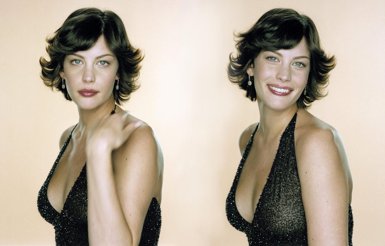 Photo wallpaper dress, woman, blue eyes, short hair, model, Liv Tyler, actress, Tyler, Liv