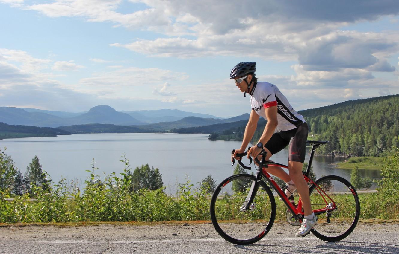 Wallpaper Road Nature Lake Sport Cyclist Road Bike