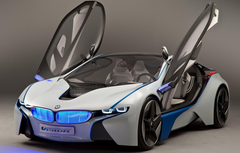 Photo wallpaper Concept, BMW, BMW, the concept, prototype, Vision, the front, EfficientDunamics