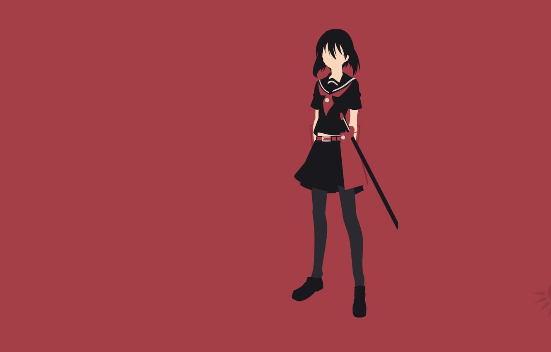 Photo wallpaper minimalism, jaegers, Akame ga kill, Kurome, akame GA kill