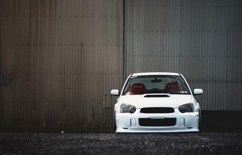 Photo wallpaper tuning, white, subaru, impreza, Subaru Impreza, wrx sti