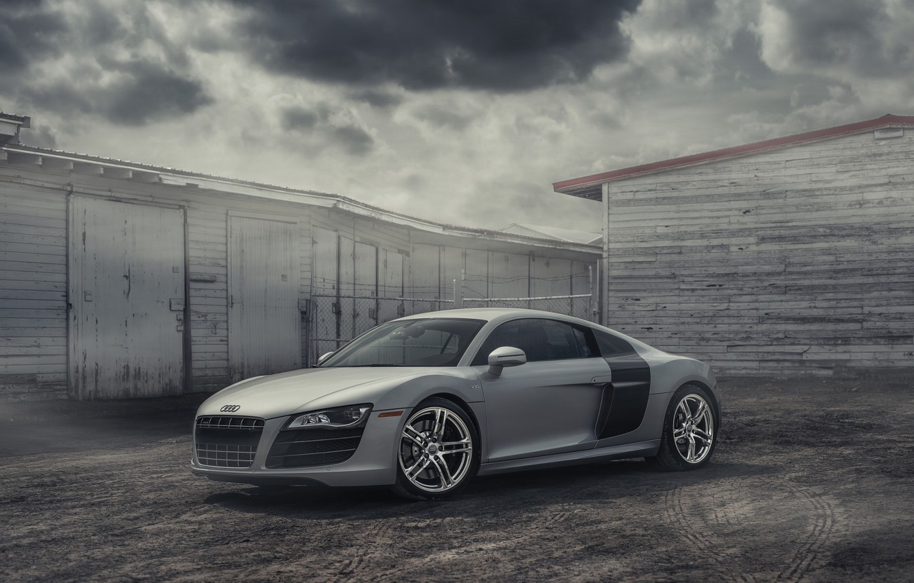 Photo wallpaper Audi, Car, Clouds, Cool, Clean, Photography, Supercar, Silver, Fog, Exotic, Sharp, Awesome, European Cars
