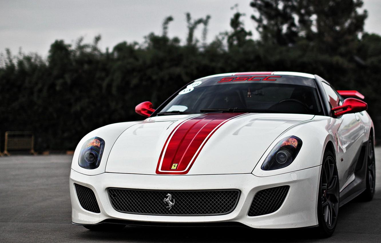 Photo wallpaper Ferrari, 599, GTO, White, Supercar