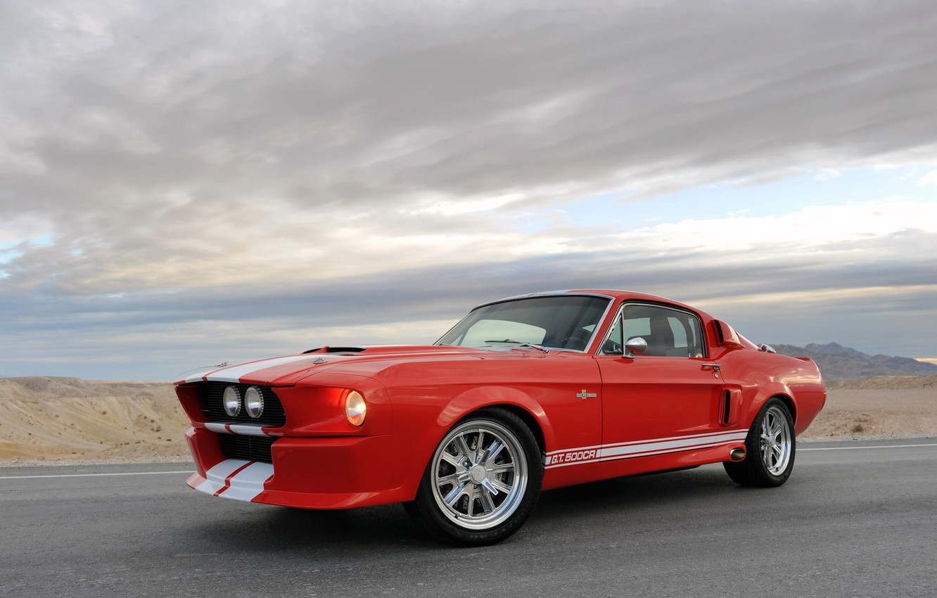 Photo wallpaper mustang, ford, shelby, cobra, 1967, gt500cr