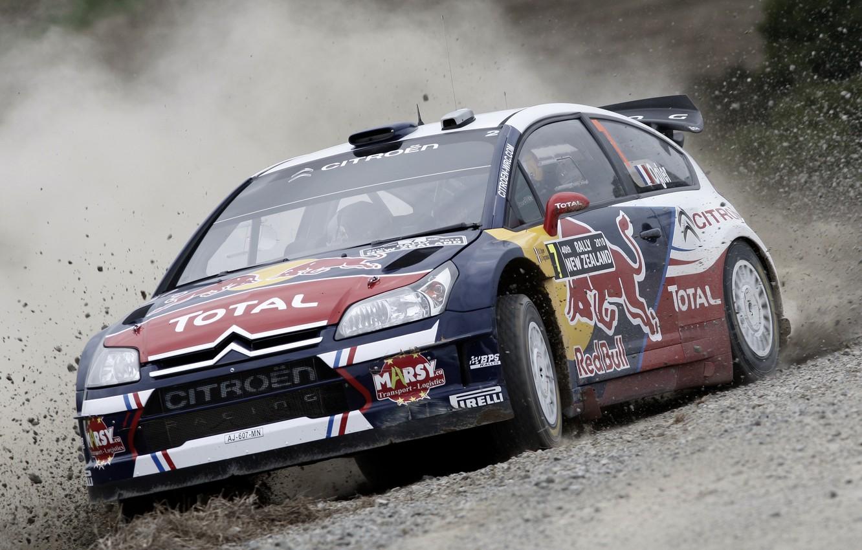 Photo wallpaper Auto, Speed, Race, Skid, Citroen, Lights, Rally, The front