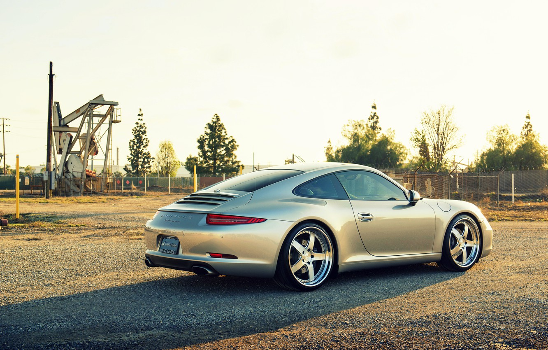 Photo wallpaper Porsche, Porsche, carrera, 991, rearside