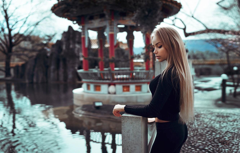 Photo wallpaper Girl, Red, Model, Beauty, View, Lips, Nice, Zurich, Mary Jane, Wore, Gorokhov