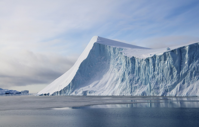 Photo wallpaper cold, ice, sea, glacier, ice