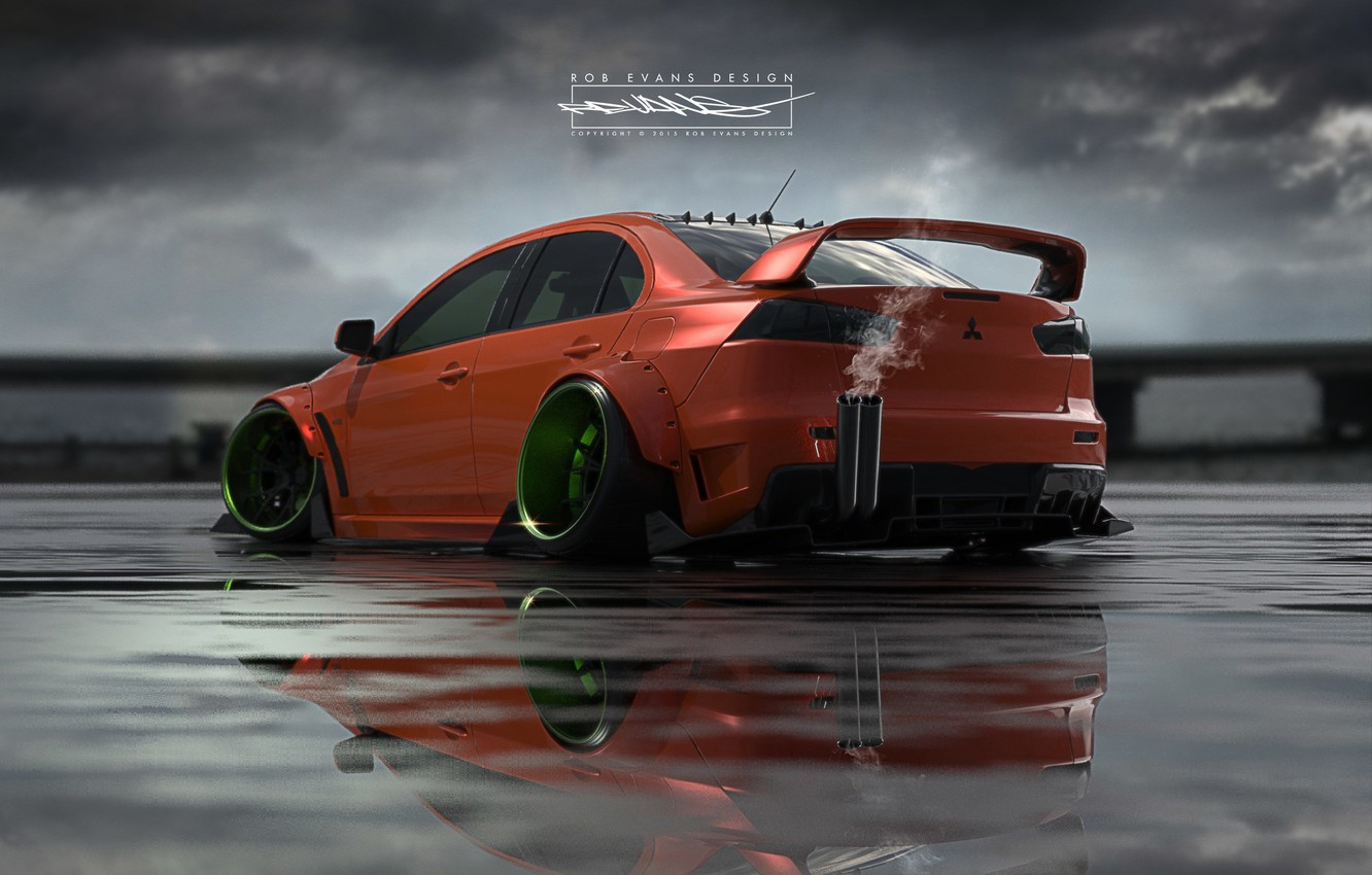 Photo wallpaper Auto, Machine, Mitsubishi, Lancer, Car, Evolution, Roben Evans Design