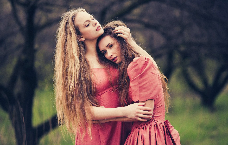 Photo wallpaper love, two girls, JOY, Marina Hakobyan, Victoria Gmira, Evgeny Sokolov