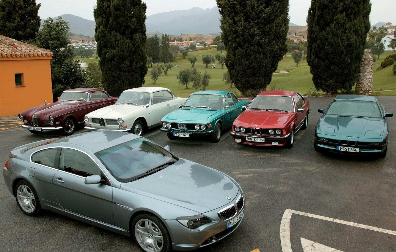 Photo wallpaper BMW, cars, a lot