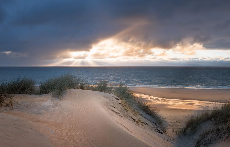 Photo wallpaper sea, beach, dunes