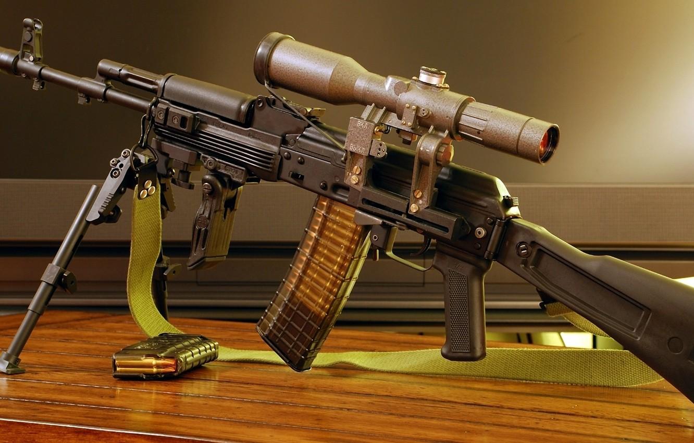 Photo wallpaper Optics, Wallpaper, Weapons, Russia, Strap, Wallpapers, NATO, Kalash, Optical sight, Bipod, 5.56x45, Stores, .223 Remington, …